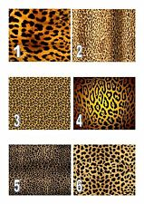 Leopard Print  A4 Iced / Icing Edible Cake Topper Wallpaper Personalised