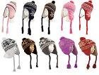 Unisex Men Women Tassel Pom Pom Beanie Ears Flap Winter Hats Trapper Fleece Snow