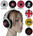 Kopfhörer Stereo Musik iPhone Headphone Ohrhörer HiFi MP3 Stern Skull Totenkopf