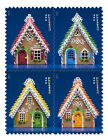 USPS New Gingerbread Houses Stamp Booklet of 20