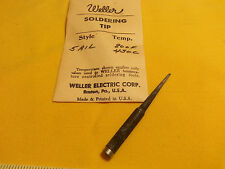 "Weller Replacement Soldering Tip #5-AIL 1/4"" Shank 1/16"" Wide Flat Tip"