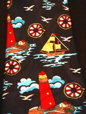 NEW! Light House Nautical Novelty Necktie Sea Sailing Life Ring Neck Tie Sleeved