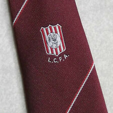 L.C.F.A. LIVERPOOL COUNTY FOOTBALL ASSOCIATION VINTAGE TIE 1970s 1980s BURGUNDY