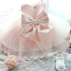 Adorable Baby Kids Girls Princess Pageant Lace Bowknot Tulle Formal Party Dress