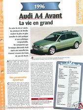 Audi A4 Avant 1.9 Tdi Break  4 Cyl. 1996 Germany Car Auto Voiture FICHE FRANCE