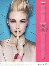 Publicité Advertising 2011  Montre SWATCH
