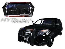 MOTORMAX 1:18 2015 FORD POLICE INTERCEPTOR UTILITY DIE-CAST BLACK 73543