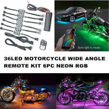 Multi Color Wireless Remote LED UNDER GLOW LIGHT KIT Brake Lamp MOTORCYCLE NEON