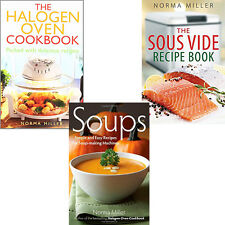 Norma Miller Collection 3 Books Set The Halogen Oven Cookbook,The Sous Vide