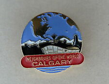 Calgary Alberta Canada Neighbors of the World Lapel Hat Souvenir Pin