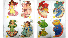 VINTAGE PAPER DOLLS  LOT GIRL SISTERS GIRLS  CLOTHES & ACCESSORIES