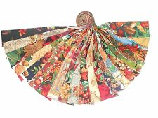 """20 2.5"""" Autumn/harvest/fall Jelly Roll- NEW 100% Cotton 20 Different fabrics!!"""