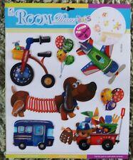 Baby Nursery Children Kid Girl Boy Toy Box Dog Bus Wall Sticker Decal Bedroom