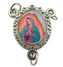MRT Our Lady Of Guadalupe Holy Rosary Centerpiece Silver Plate Color Medal Gift