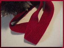 Galon Tresse Plate souple Coton au mètre 24 mm Rouge Opéra ruban couture sewing
