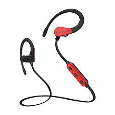 Red Sport Bluetooth Headset Earphone with Microphone Sweatproof Earbuds For LG