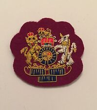 WO1 Badge, Warrant Officer, Army, Mess Dress, Medical Maroon, Military, RAMC