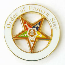Masonic Order Eastern Star OES Large Lapel Pin Mason Freemason