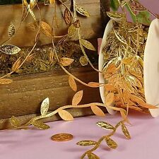 "Gold Leaf Ribbon 1-1/4"" X 10Yd"