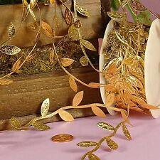 """Gold Leaf Ribbon 1-1/4"""" X 10Yd"""