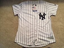 MAJESTIC MLB NEW YORK YANKEES WOMEN STITCHED HOME JERSEY SZ M NWT-RUNS SMALL