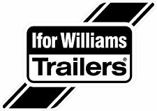 Ifor William Trailers Logo Sticker in Black A5 (210x148mm) by stika.co