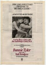 BONNIE TYLER Loving you is Dirty Job 1985 UK Poster size Press ADVERT 16x12""