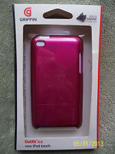 Griffin iPod Touch 4th generation Outfit Ice Case Skin Pink with Micro Stand