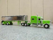 (#2) DCP 1/64 LIME GREEN PETERBILT 389 WITH EAST SPREAD AXLE DUMP TRAILER