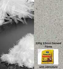 12mm Fibres For Render - 100G Bags For Render, Stucco & Plaster with plasticiser