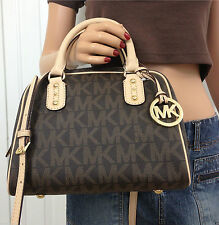 Michael Kors Satchel Monogram Brown Tote Bag Authentic RRP£260