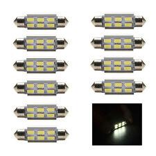"""10 Pcs/lot 36mm 12V 5730 6 LED C5W Festoon Canbus Error Free Interior White TS"