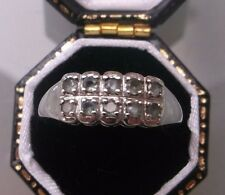 Women's 9ct White Gold Vintage Emerald Ring Weight 4.8g Size N Stamped