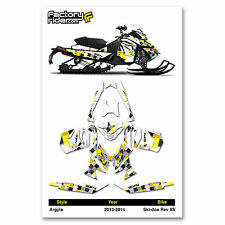 2013-2014 SKI DOO XS SNOWMOBILE GRAPHICS ARGYLE STYLE BY ENJOY MFG / 137 TRACK