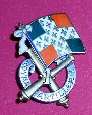 RS39 French unit badge / crest for the 1st Artillery, the Royal Artillery