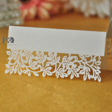 100 Ivory Leaf Table Name Place Card Recycled Paper Ideal For Party Or Wedding