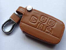 Range Rover / Discovery 4/ Sport/Evoque/Jaguar - Brown Leather Key Fob Cover