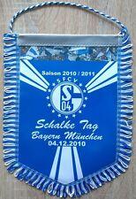 FC Schalke 04 + Riesen Wimpel Banner + 28x22 cm + SFCV + Bayern München 04.12.10