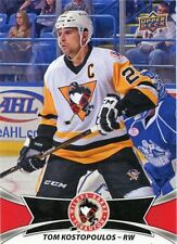 16/17 UPPER DECK AHL RED 51 TOM KOSTOPOULOS WILKES-BARRE SCRANTON PENGUINS 30797