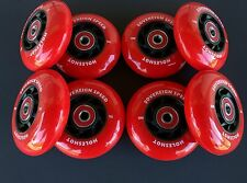 8 HiLo 76-80mm Holeshot Inline Wheels + Abec-9 Bearings-Indoor 74a Roller Hockey