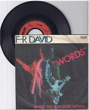 "F.R.David, Words, A/G  7"" Single 999-143"
