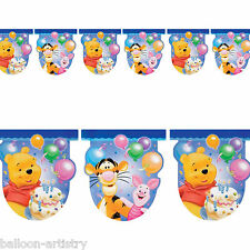 2.7m Disney Winnie The Pooh Children's Birthday Party Flag Banner Decoration