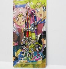 Japanese Animation Sailor Moon Metal Cell Phone Charm Mascot 5 pcs Set C