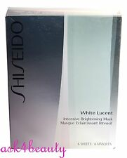 Shiseido White Lucent Brightening Mask 6 Sheets New In Box