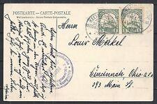 Deutsch Südwest Afrika covers 1907 PPC Keetmanshoop to Cincinnati  MILITAIRY
