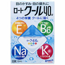 Rohto Cool 40α Eye Drops 12ml Made in Japan New Eyedrops 40a alpha