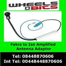 Pc5-136 Citroen C2 C3 C4 C5 C6 C8 Amplified Fakra to ISO Aerial Antenna Adaptor