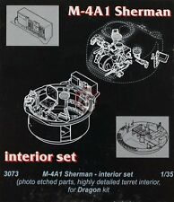 CMK 1/35 M4A1 Sherman (Early / Late) Interior Detail Set (for Dragon kit) 3073