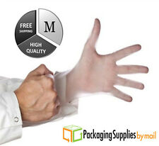 100 Disposable Powder-Free Vinyl Medical Exam Gloves (Latex Free) 5 Mil, Medium