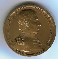 William Henry Harrison medal and Battle of the Thames 65mm Bronzed Copper